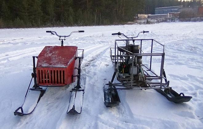 Снегоходы сделанные самостоятельно