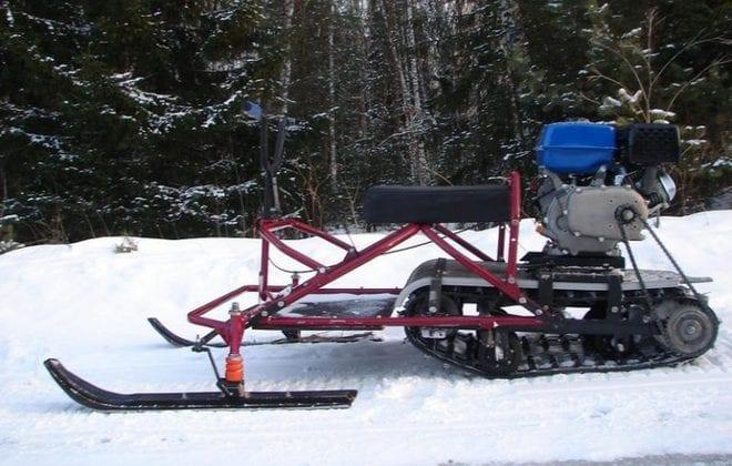 Снежный транспорт из культиватора