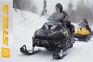 Снегоход Ермак и другая техника для передвижения по снегу торговой марки STELS