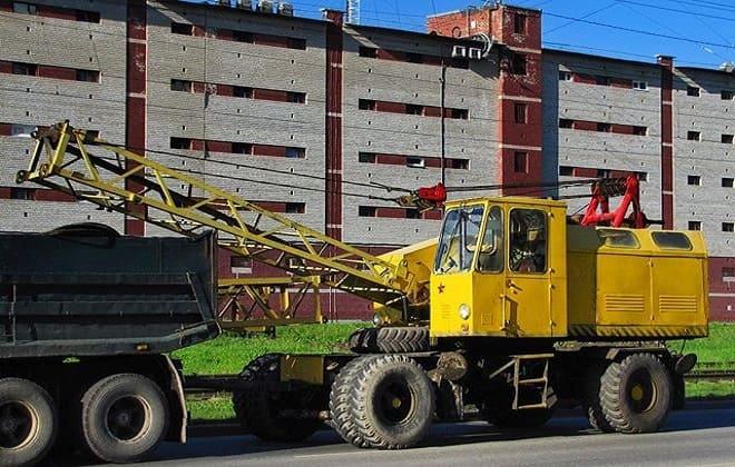 Транспортировка крана