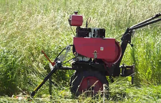 Вид устройства для скоса травы