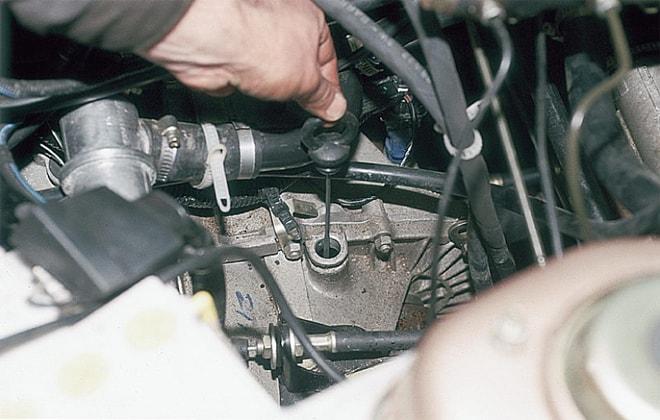 Замена жидкости в машине