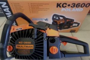 Устройство и характеристики немецкой (польской) бензопилы Kaltman KC-3600