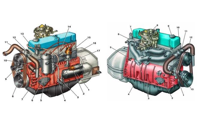 Двигатель схема