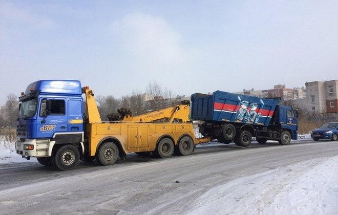 Эвакуация грузовика