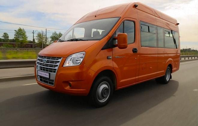 ГАЗель модели Next оранжевого цвета