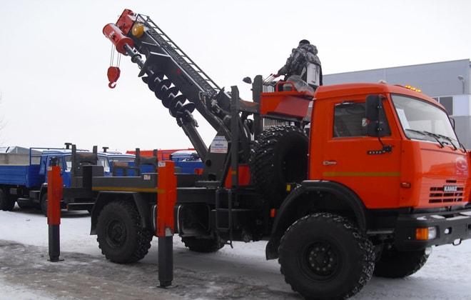 Назначение буровой установки и технические характеристики ямобура КамАЗ