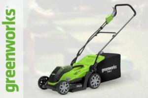 ТОП-2 электрические и лучшие аккумуляторные газонокосилки Greenworks (Гринворкс)