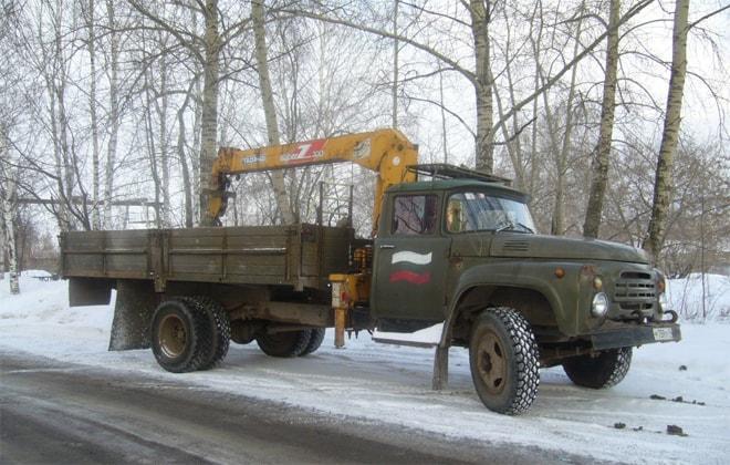 Кран в кузов грузовика