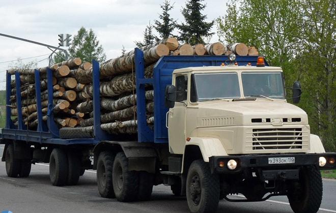 Лесовоз КрАЗ-6437