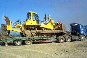 Правила и особенности транспортировки бульдозеров на трале