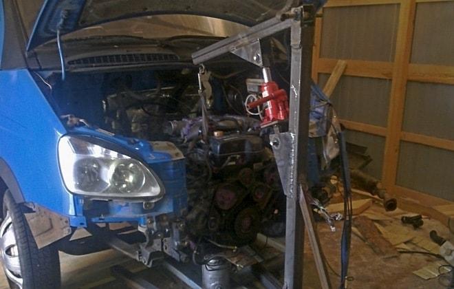 Подъем мотора