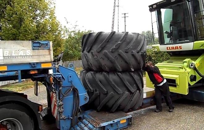 Погрузка колес