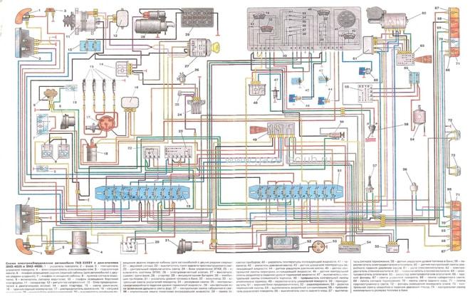 Схема электрооборудования ГАЗ-3302