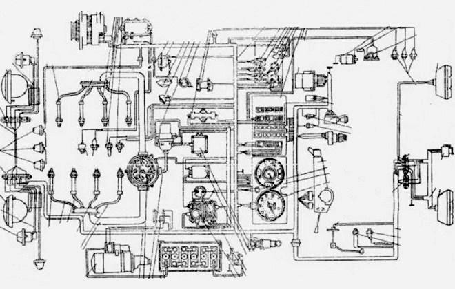 Схема электрооборудования грузовика