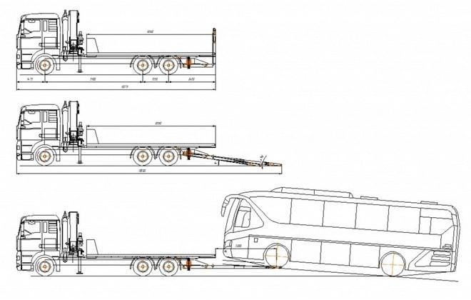Схема эвакуатора