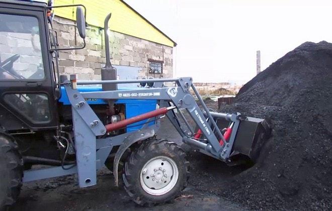 Трактор МТЗ с погрузчиком