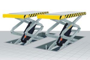 Автомобильные и строительные ножничные подъемники