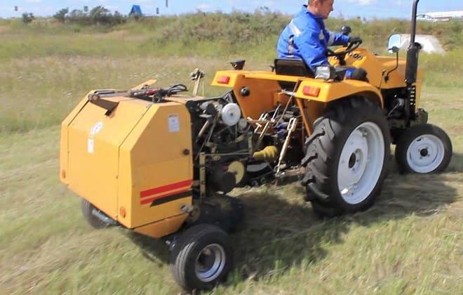 Агрегат RXYK 0870 в тандеме с трактором