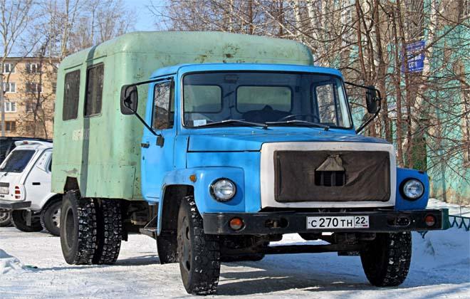 Грузовик модели ГАЗ-3306