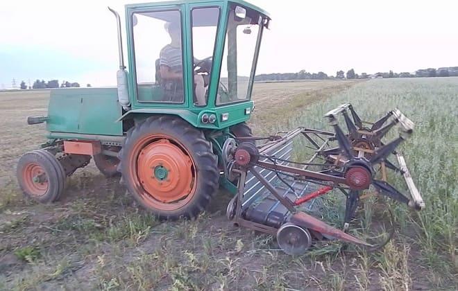 Самодельная машина для уборки зерна