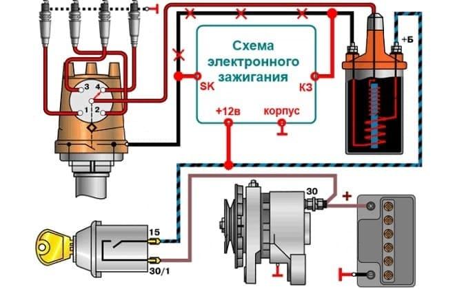 Схема электронной системы