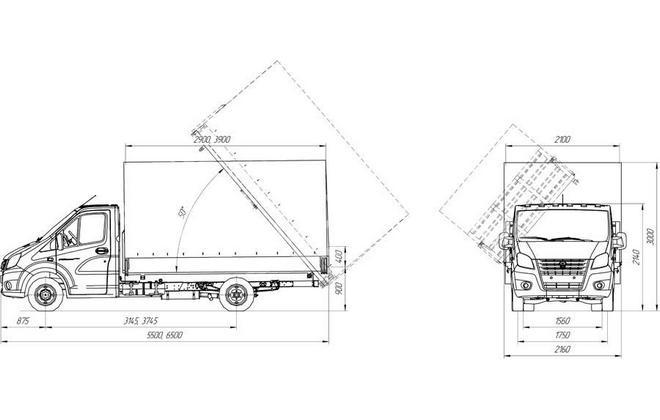 Схема грузовика-самосвала