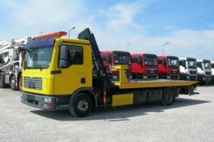 Особенности и технические характеристики грузового эвакуатора с манипулятором MAN (МАН)
