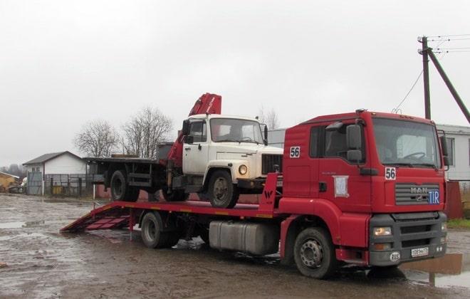 Перевозка грузовой машины