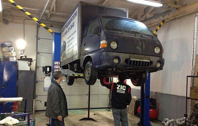 Обслуживание мини-грузовика Hyundai