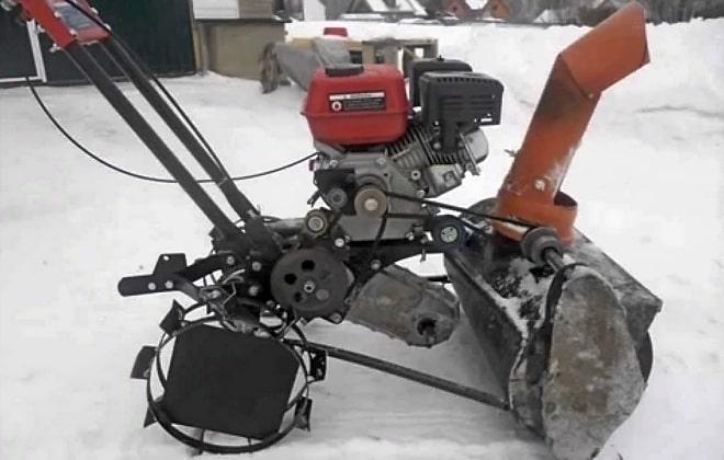 Снегоуборщик-самоделка