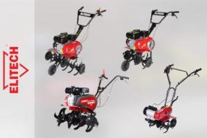ТОП-4 мотокультиватора Elitech с бензиновыми и электрическими моторами