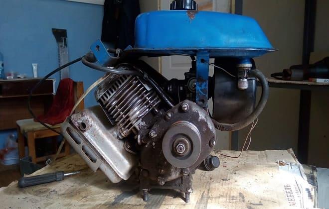 Замена двигателя мотокультиватора Крот