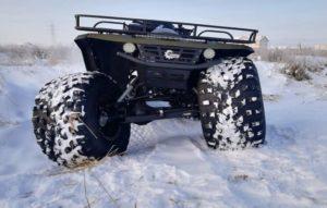 Болотоход Сокол на снегу