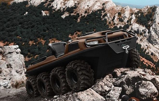 Коричневый вездеход Tinger Armor W8