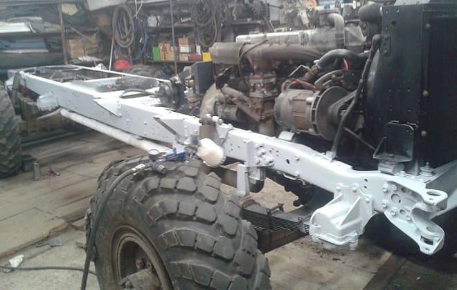 Сварное рамное шасси грузовика Садко