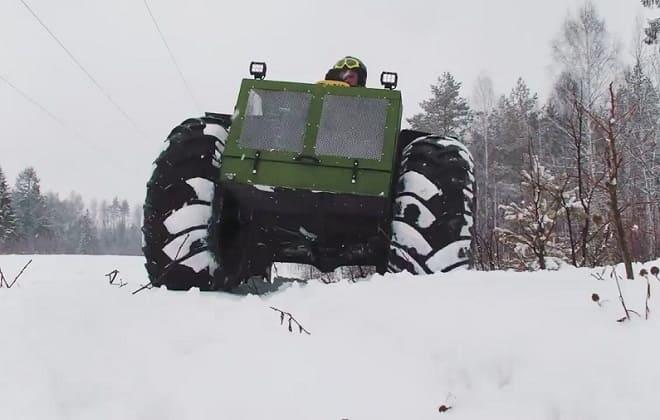 Вездеход Тайга 4x4 на снегу