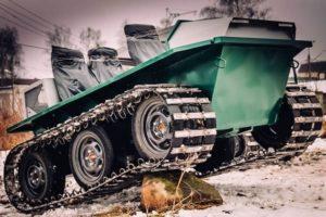 Надежные и легкоуправляемые гусеничные вездеходы Добрыня для любого бездорожья