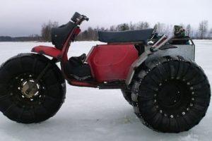 Как сделать из мотороллера Муравья каракат на гусеничном или колесном ходу