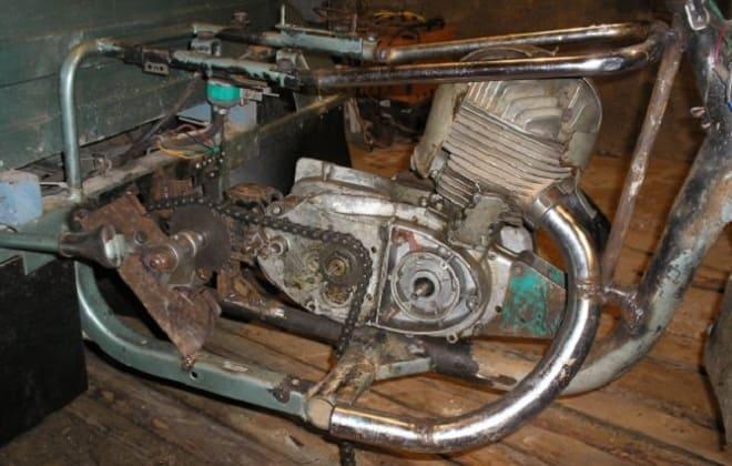 Установка двигателя на каракат
