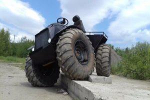 Колесный каракат Сармат 1500 способен передвигаться по суше и воде