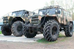 Вездеходы на базе ГАЗ-66 с необычным дизайном разработаны для военных целей