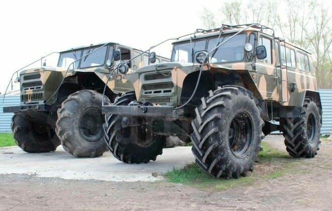Вездеход на базе ГАЗ-66 на шинах низкого давления