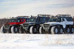 Новинки гусеничных и колесных вездеходов России для грязи и бездорожья