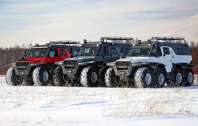 Вездеходы России зимой