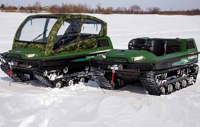Вездеходы Тингер на снегу