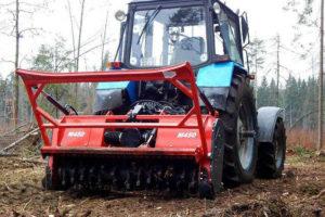 Навесной мульчер на трактор для деревьев: разновидности, как собрать своими руками