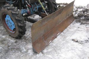 Как сделать снеговой отвал на МТЗ-82 своими руками: самодельная поворотная снегоуборочная косая лопата, чертежи и размеры